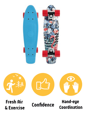 Skateboard - Helps kids with: Exercise, Confidence and Coordination